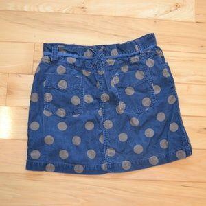 Boden Bottoms - polka dot corduroy skirt boden 10 blue brown